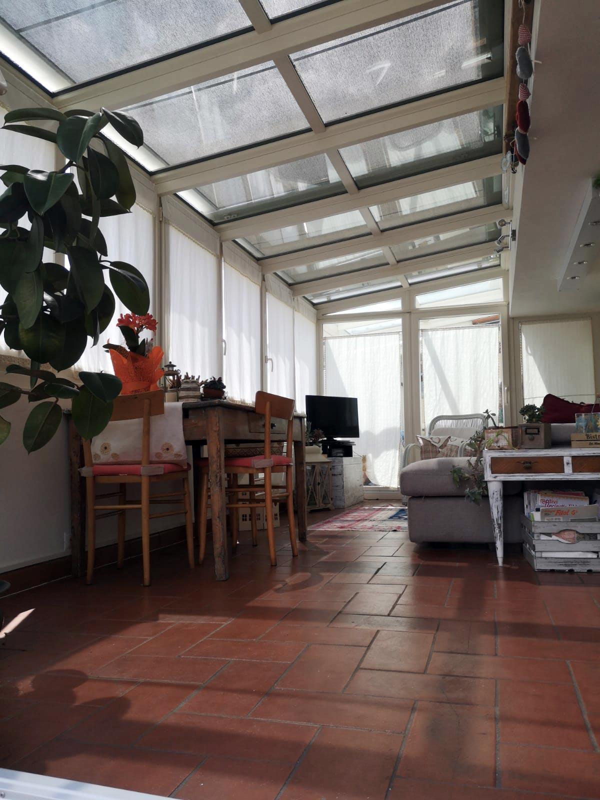 Veranda Finstral in PVC e alluminio